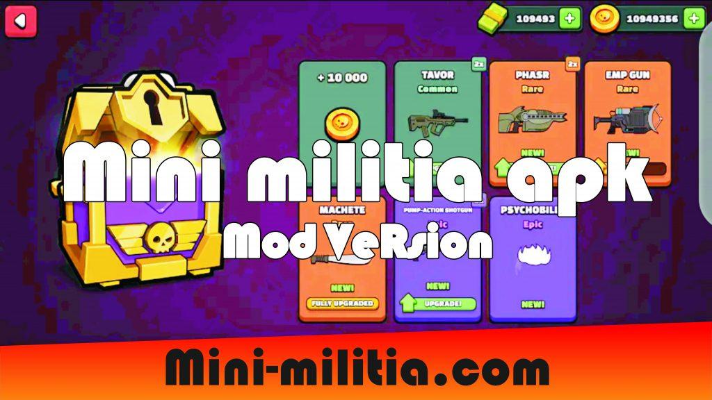 mini militia apk mod version